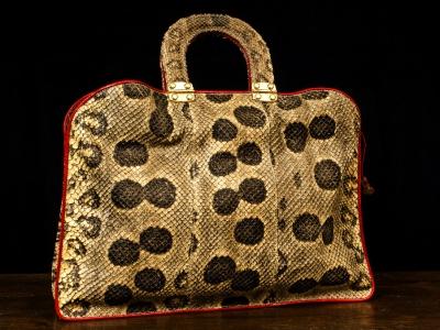 borse in pelle artigianali su misura: borsa in pitone