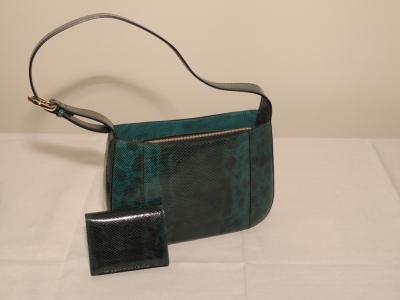 borsa in pelle di lucertola artigianale
