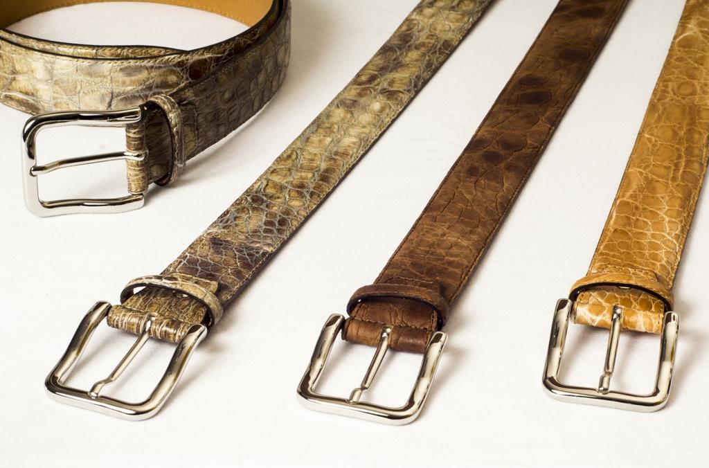 accessori in pelle cinture in pelle di coccodrillo
