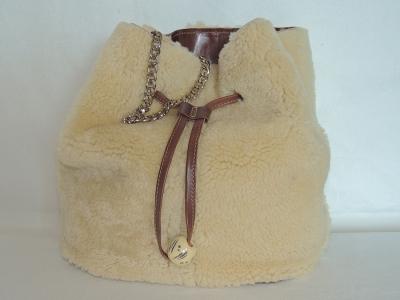 secchiello in montone - borsa di pelliccia
