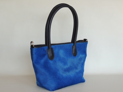 shopping bag in cavallino color blu