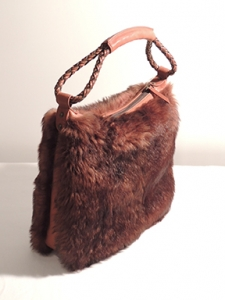 borsa in pelliccia di capretto - fur bags made in Italy