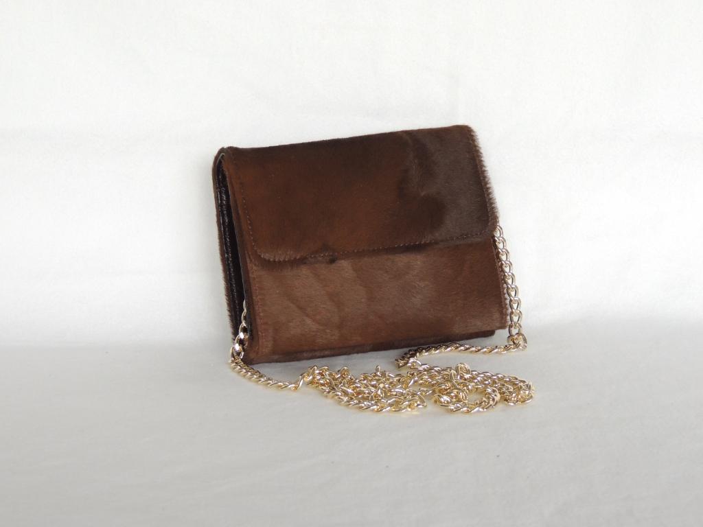 borsa pochette artigianale in cavallino