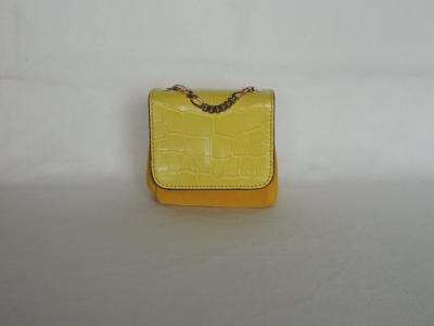 borse di coccodrillo: borsa piccola gialla in pelle di coccodrillo
