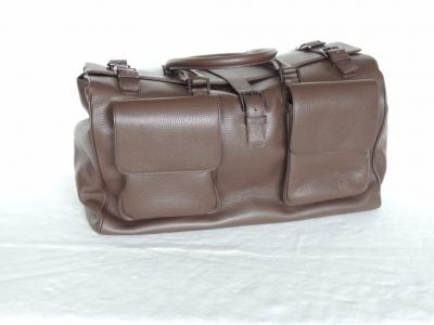 borsone di pelle artigianale