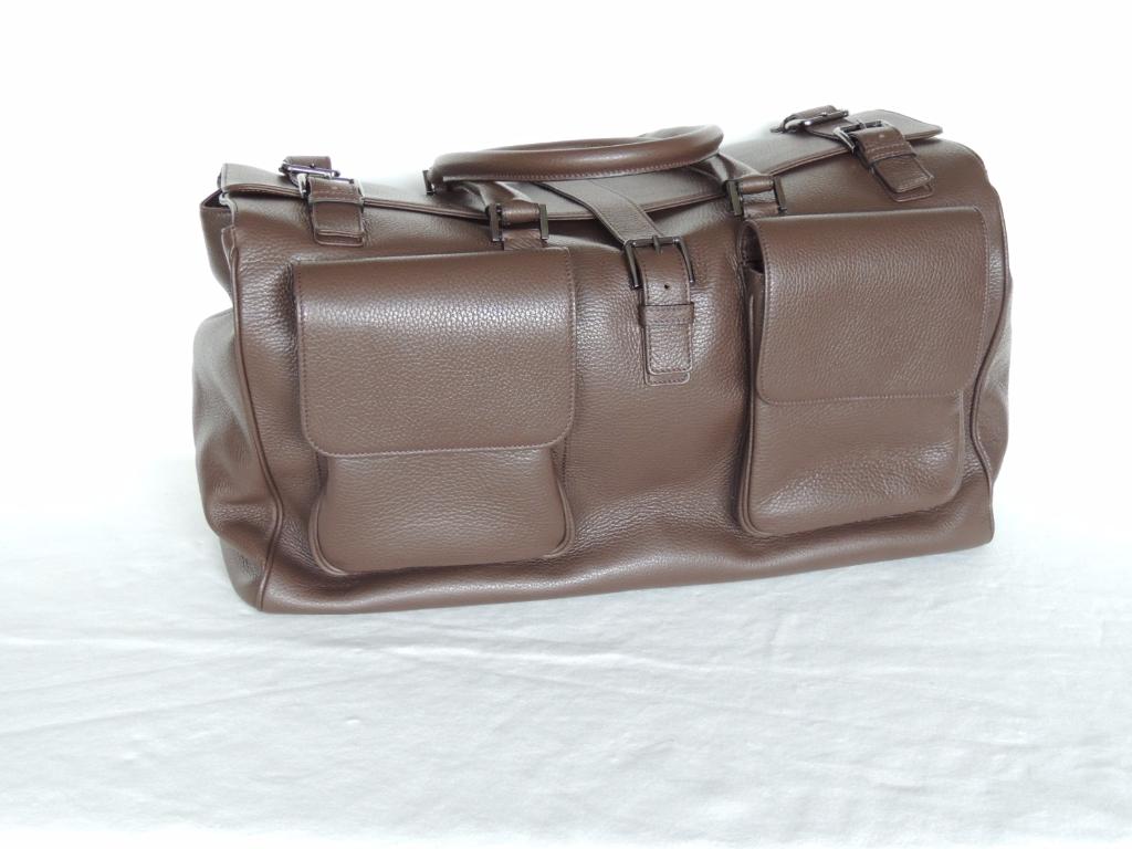 borsone di pelle da viaggio artigianale