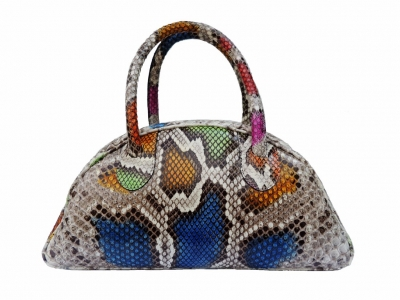 borsa in pitone multicolore