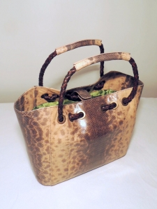 borse lucertola e karung: borsa in pelle di karung