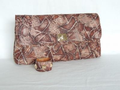 borse in pitone color sabbia