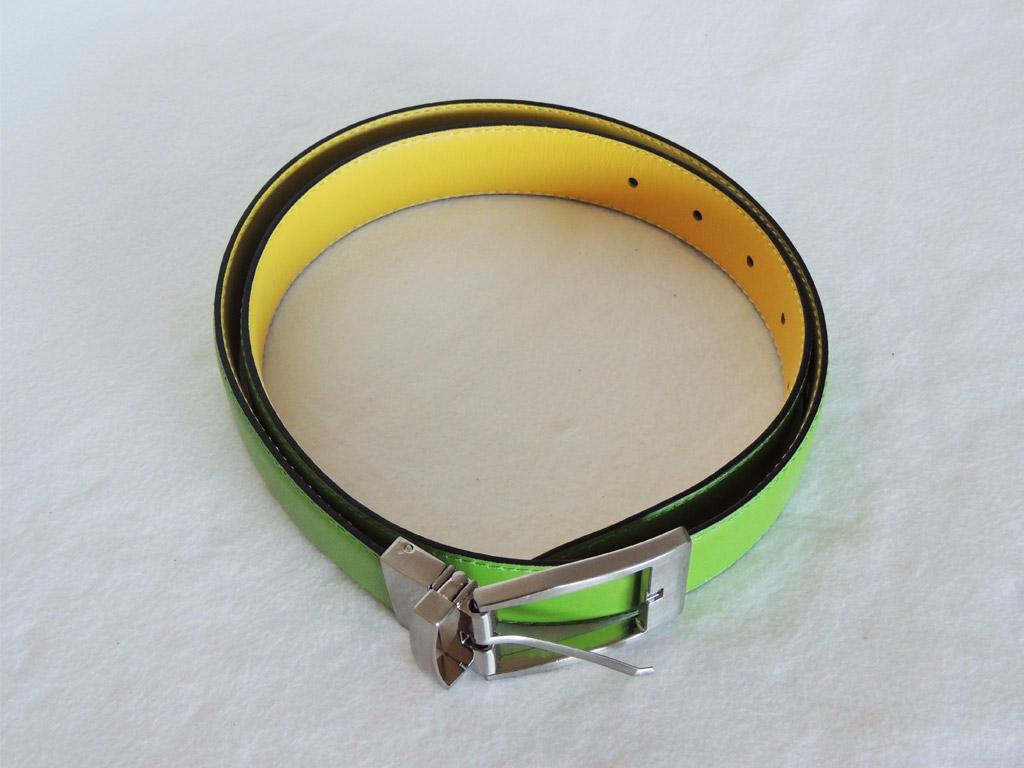 cintura in pelle da donna color verde- cinture senza nichel artigianali