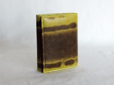 portafoglio da donna in pelle lucertola giallo