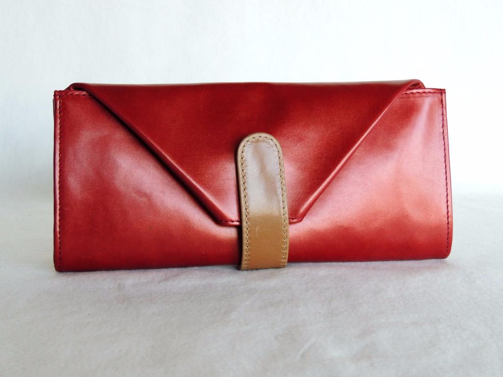 portafogli donna: portafoglio in pelle rosso